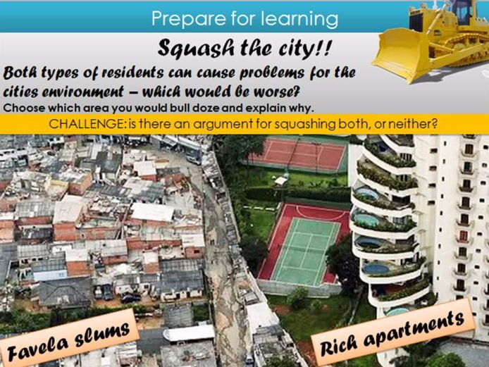 LEDC/LIC City, Rio, environmental challenges and opportunities, New urban unit, AQA GCSE Geography