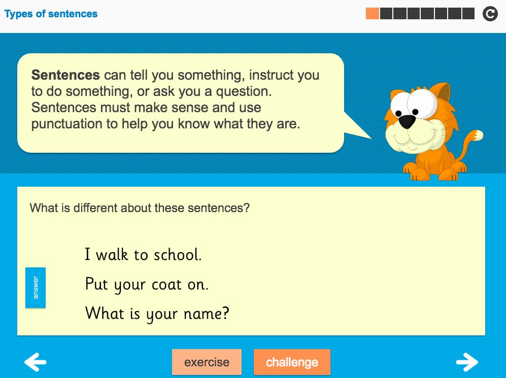 Sentence Types Interactive Teaching Presentation - Year 2 Spag