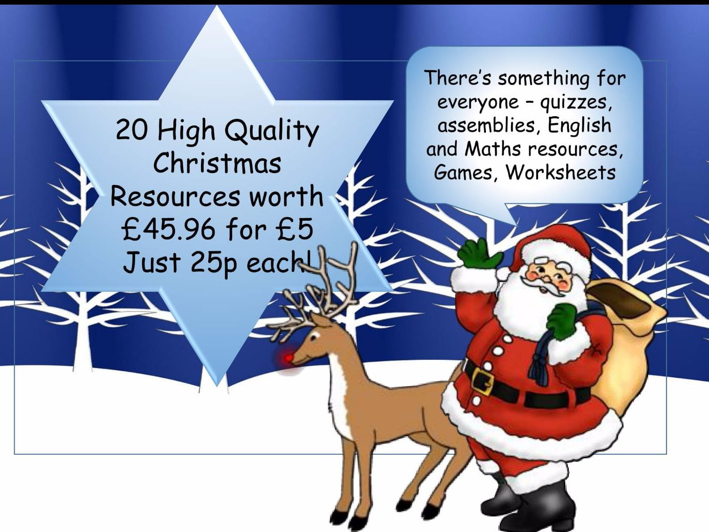 Christmas Bumper Bundle £51.98 worth of resources for just £5- a massive saving of 90%!