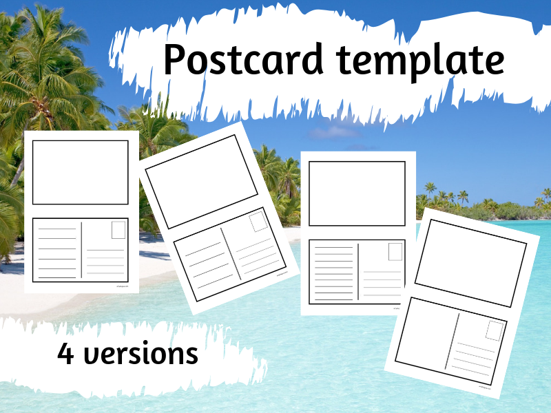 Set of Postcard templates
