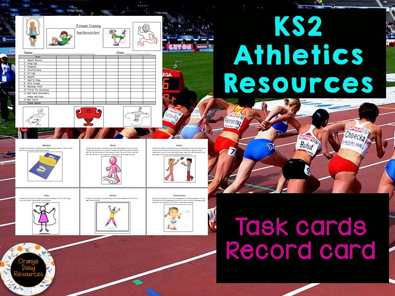 KS2 Athletics Resources - Task Cards and Record Sheet