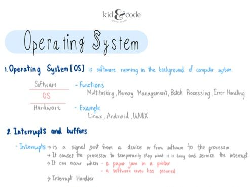 IGCSE Computer Science : Operating System