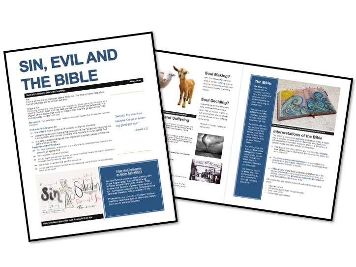 AQA Exam Booklet: Christian Beliefs and Teachings: Sin, Evil and the Bible