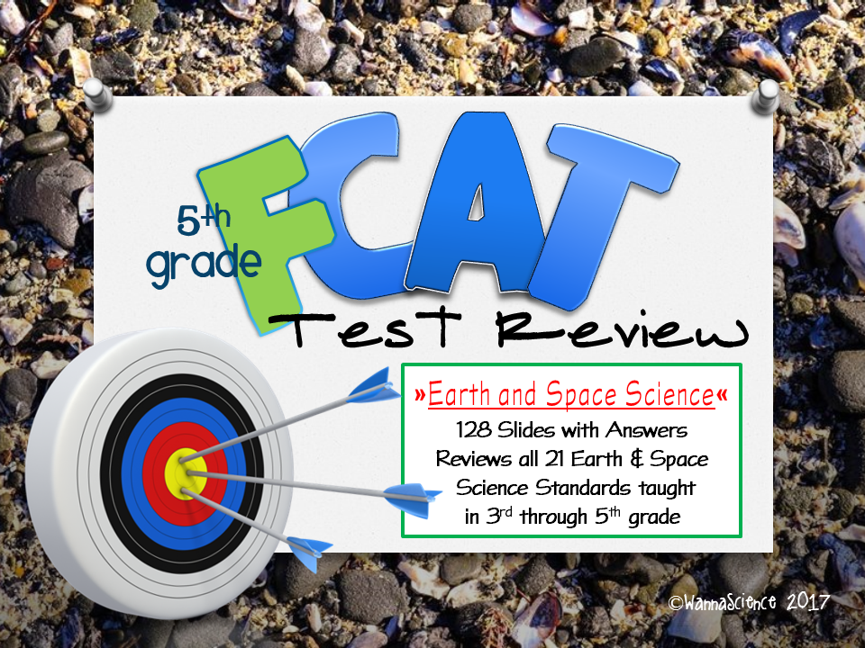 FCAT 2.0 EARTH Science Grade 5 Review and Optional Game Cards