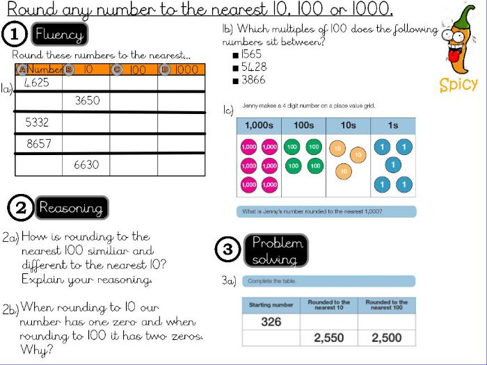 Place value - Round any number to the nearest 10, 100 or 1000- Lesson 2/2