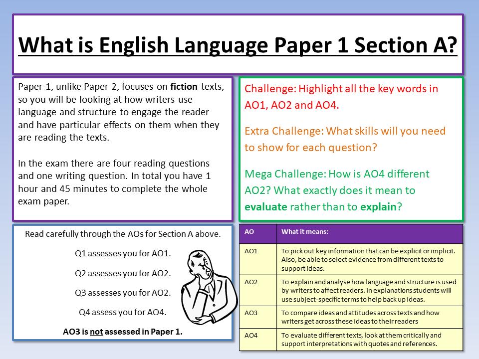 Edexcel English Language Paper 1 Intro
