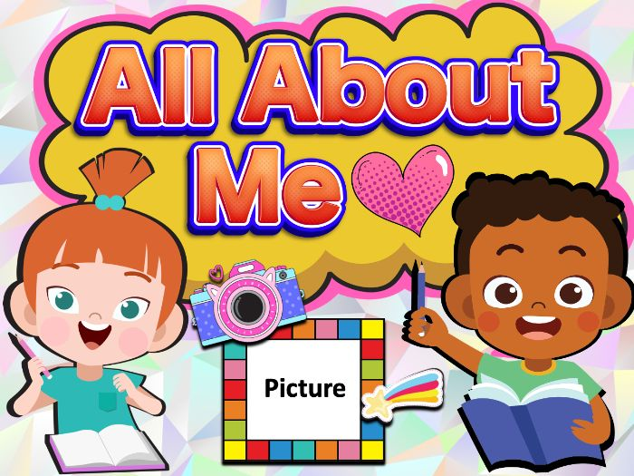 All About Me Editable Back to School Activity