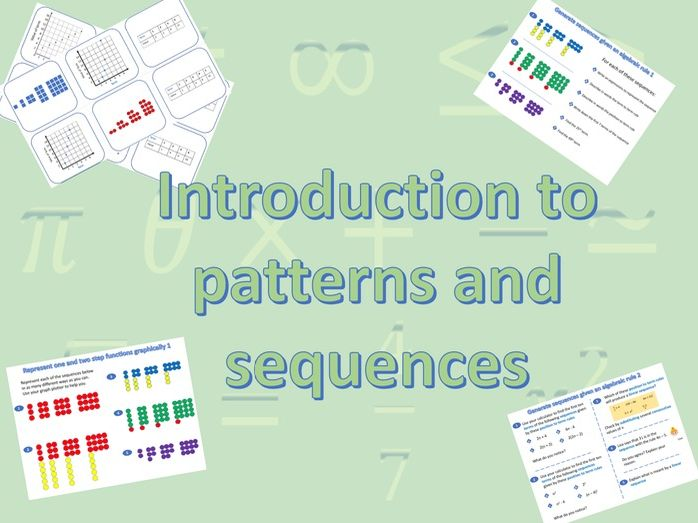Patterns and Sequences - 2 week's whole lessons