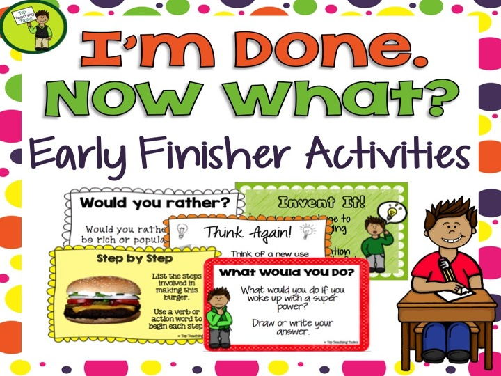 I'm Done - Now What? Early Finisher Task Cards