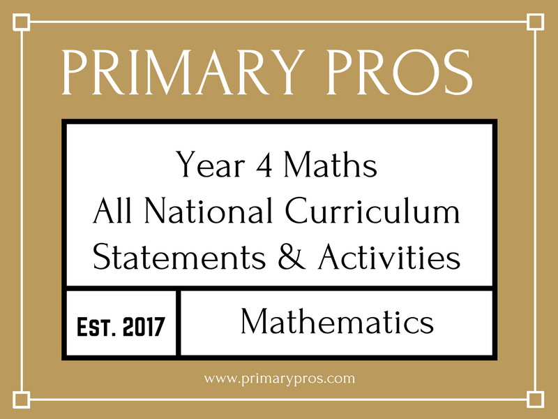 Year 4 Maths - 2/3 National Curriculum Statements & Activities