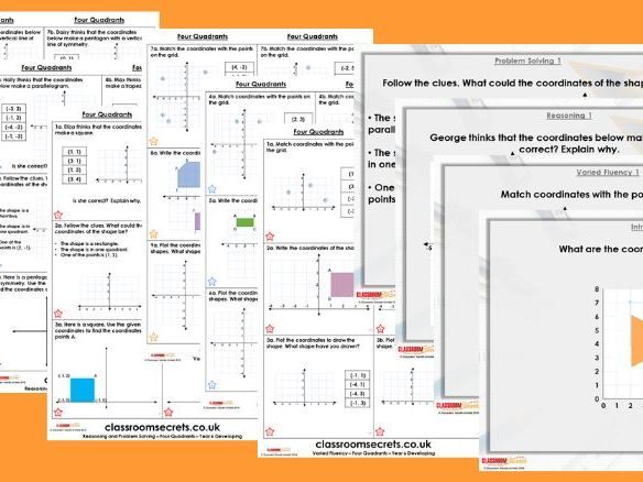 Year 6 Four Quadrants Autumn Block 4 Step 2 Lesson Pack