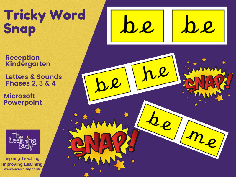 Tricky Word/Sight Word Game-Whole Class Snap