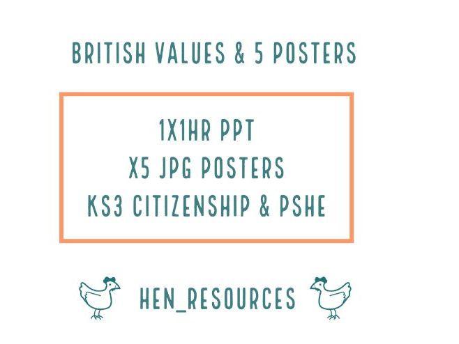 British Values lesson & 5 posters
