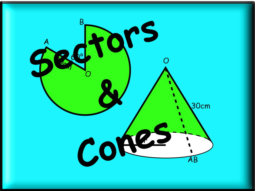 Sectors And Cones Worksheet - With Answers