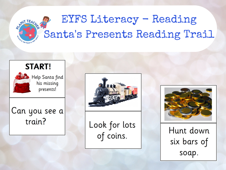 EYFS Reading Activity - Find Santa's Presents - Phase 3 Phonics