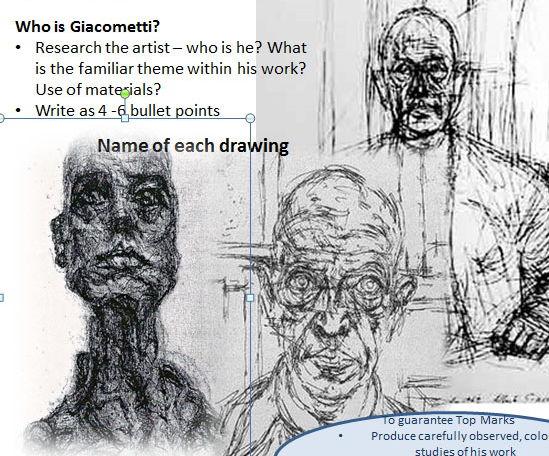Giacametti Figure Portrait Homework