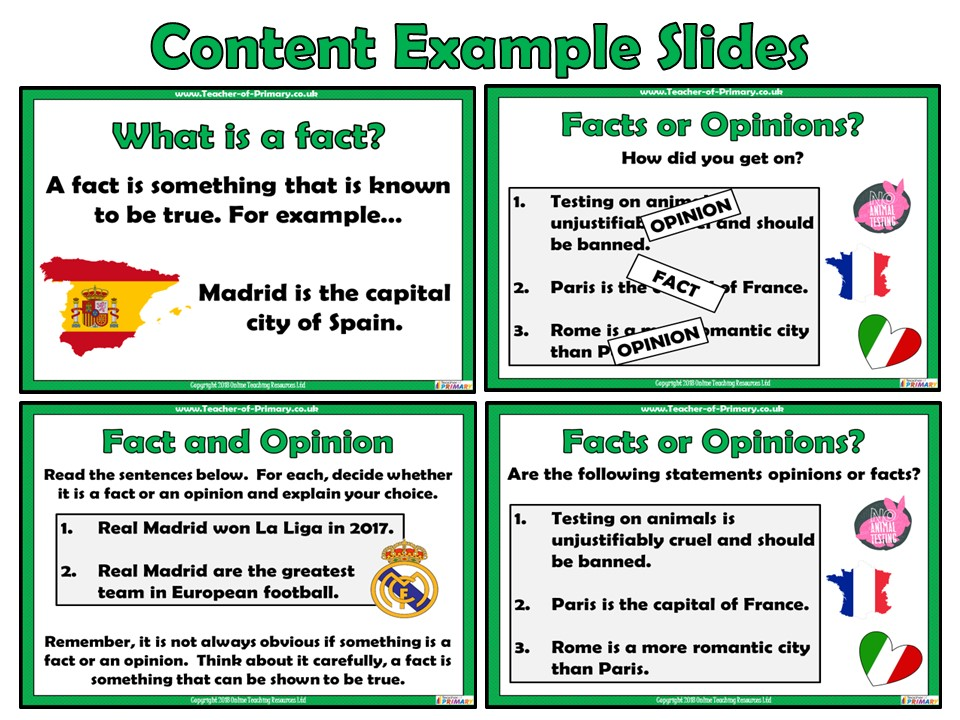 Fact and Opinion - PowerPoint presentation | Teaching Resources
