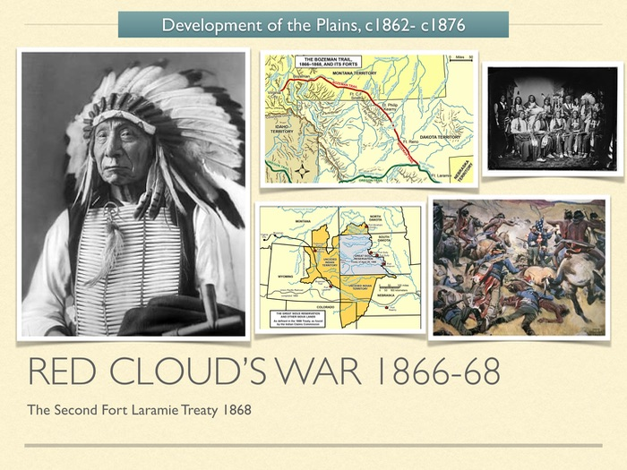 GCSE History of American West 1800s. The Red Cloud's War 1866-68