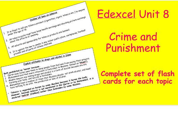 Edexcel Christianity and Islam Unit 8 Crime and Punishment Flash Cards