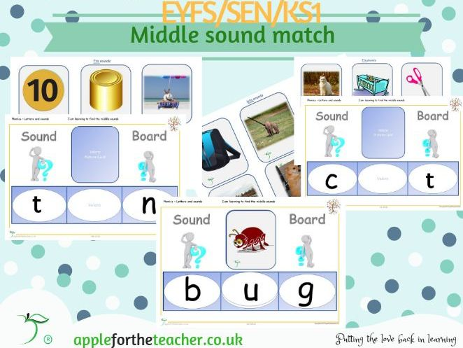 Phonics Middle Sound Board Activity