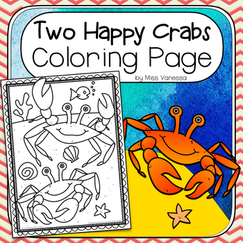 Two Happy Crabs Coloring Page