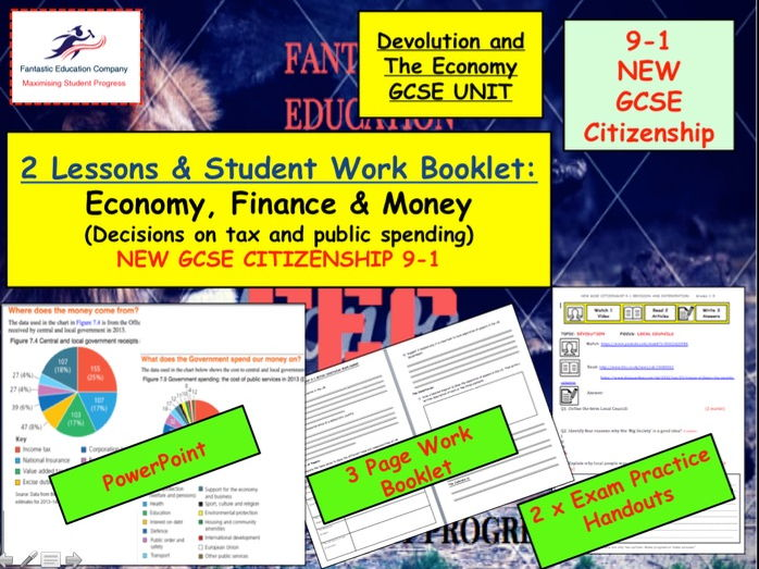 NEW GCSE Citizenship (9-1) Economy, Finance and Money Decisions on public spending