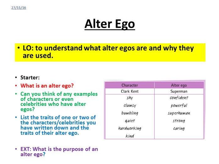 Creative Writing - Alter Ego