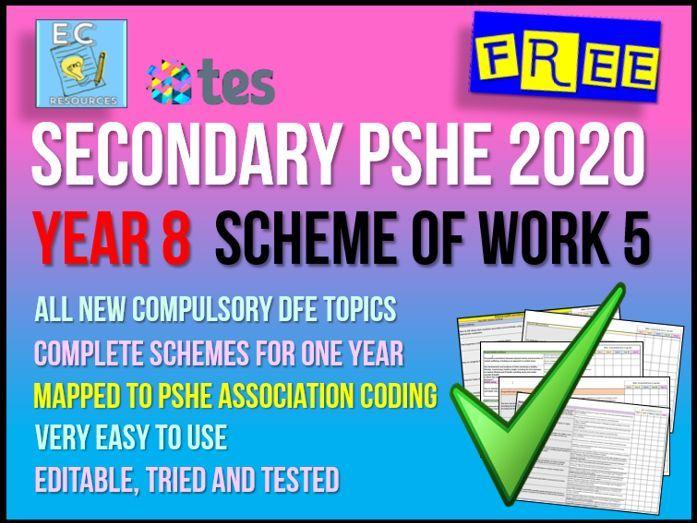 Year 7 PSHE Scheme of Work  5 - Health