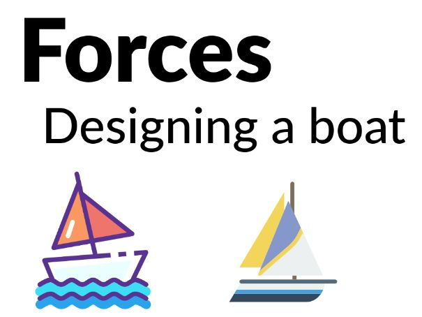 Forces - Designing the best boat [Years 3, 4, 5]