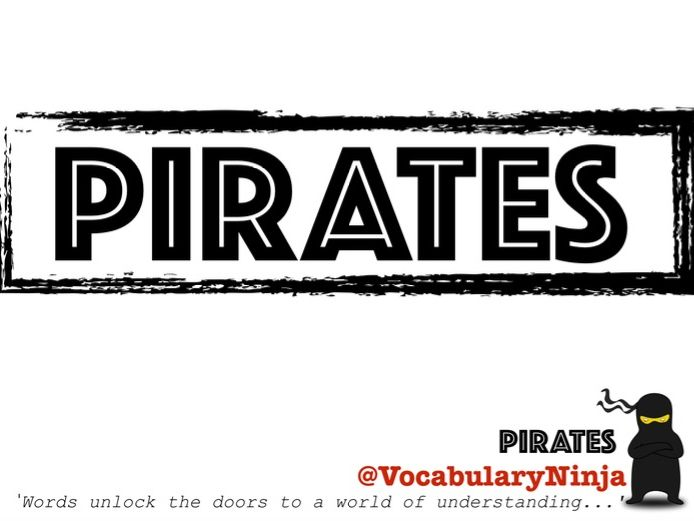 Pirates Topic Vocabulary Pack