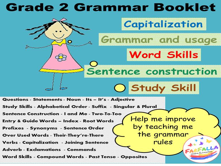 Grade 2 Grammar Worksheet