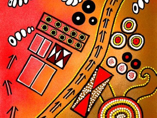 Aboriginal art 2 - aerial view