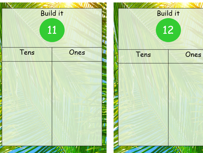 Tens and ones build it natural