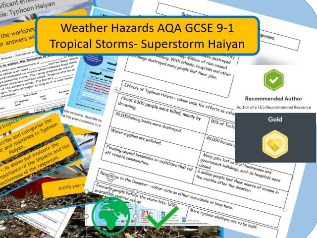 GCSE AQA 9-1: Super Typhoon Haiyan - Hurricane- cause, effects and responses.