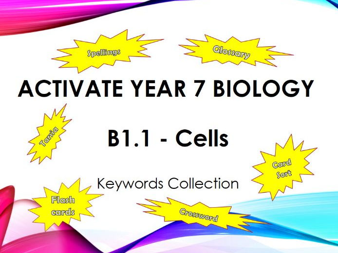 Activate Year 7 Biology - B1.1 - Cells - Keyword Collection