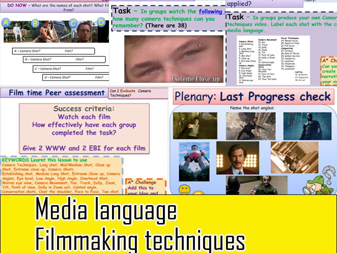Media Language Camera Technique Masterclass