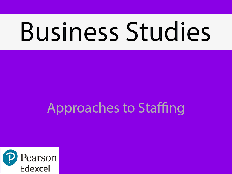 Business: Approaches to Staffing Powerpoint (NEW SPEC) - Edexcel