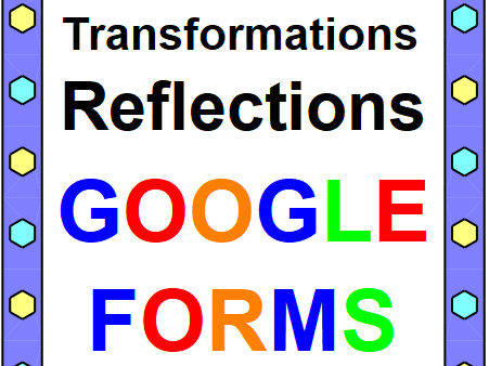 TRANSFORMATIONS (REFLECTIONS): GOOGLE FORMS QUIZ (PROBLEMS 20) DISTANCE LEARNING