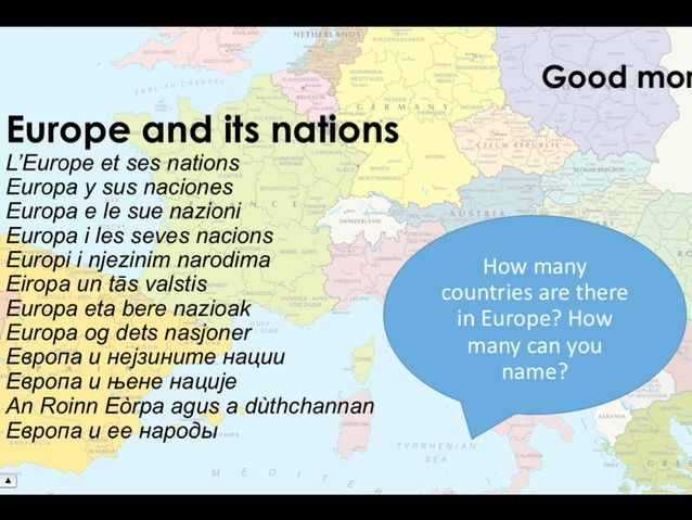 European Day of Languages 2017 Tutor Time/Lesson Activity Presentation