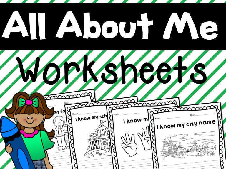 About myself --- Personal information worksheets for Grade 1 and 2