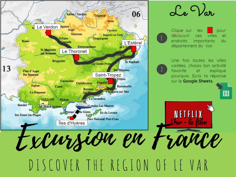 Free French Virtual Field Trip - le Var