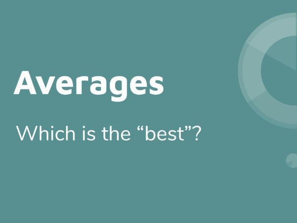 Choosing the Best Average