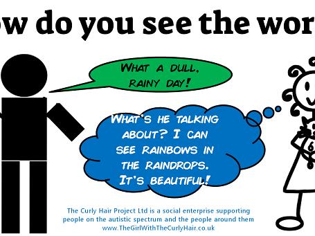 Autism awareness desktop background, screensaver or poster