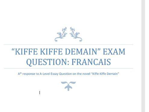 Kiffe Kiffe Demain Essay 2