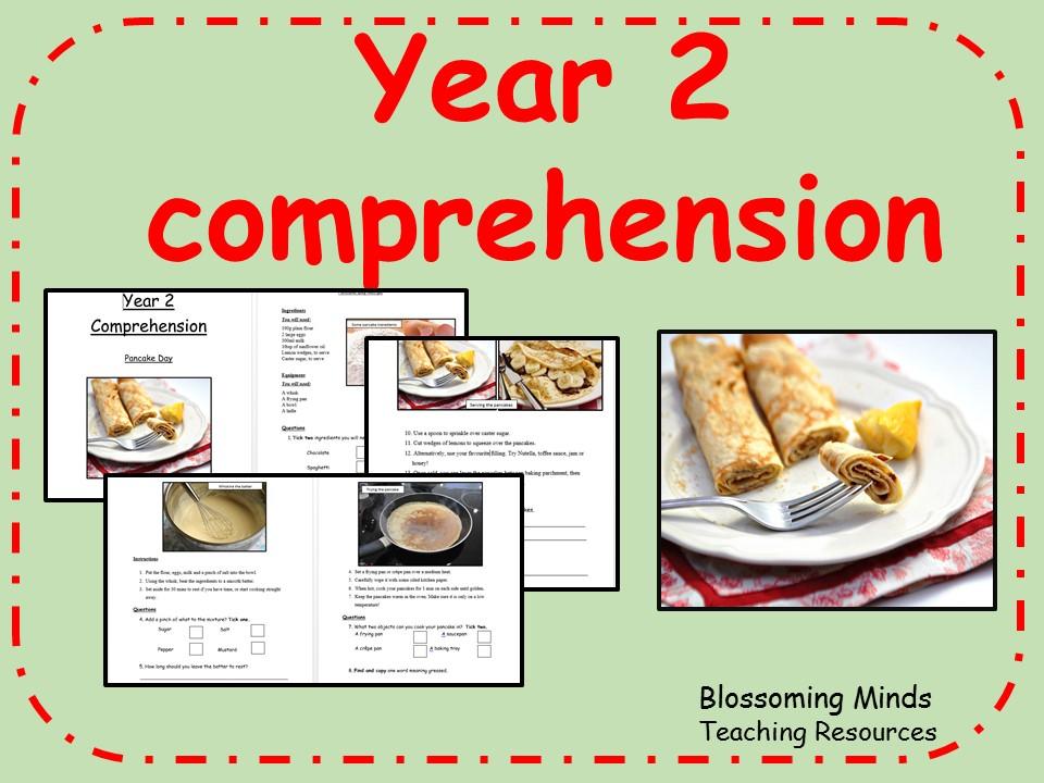 Year 2 Comprehension - Pancake Day