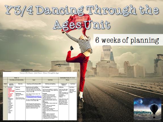 Y3/4 PE Dancing Through the Ages Unit LKS2 Dance 6 Lessons Y4
