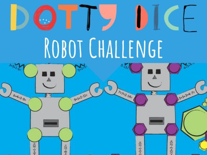Numeracy Board Game- Robot Challenge - Early Additive-