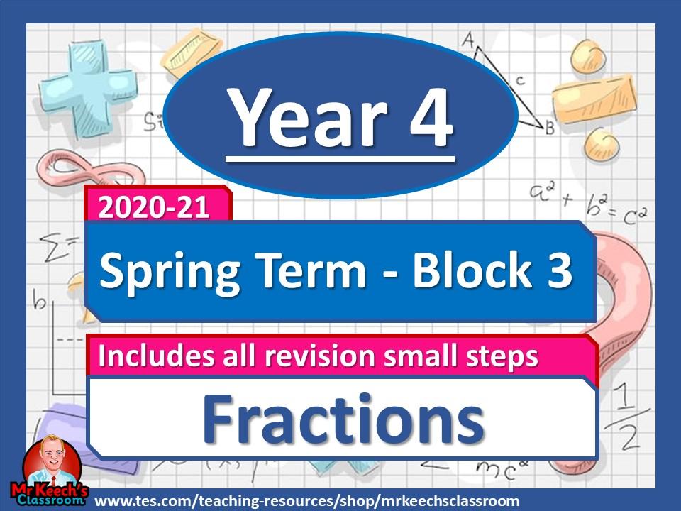 Year 4 - Fractions- Spring Block 3 - White Rose Maths