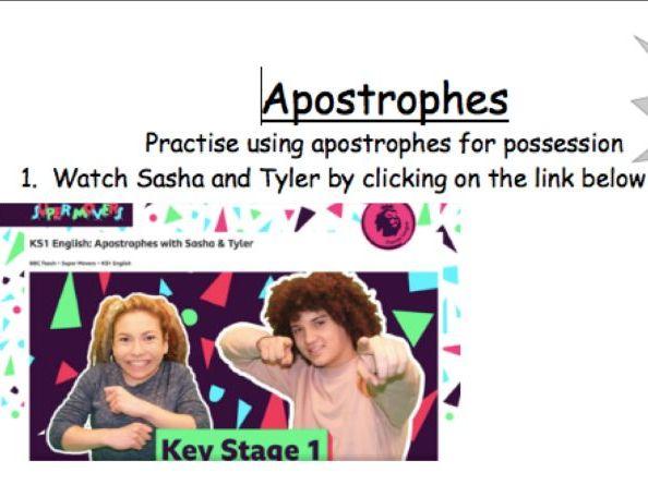 KS1 SPaG Apostrophes for possession