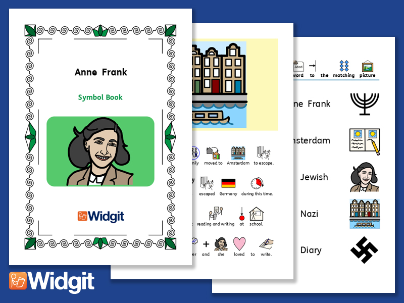 Anne Frank - Books and Activities with Widgit Symbols